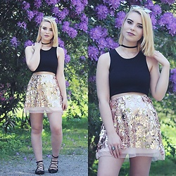 Carina Gonçalves - Missguided Crop Top, Lovelywholesale Skirt - Baby, what's it gonna hurt if they don't know ?