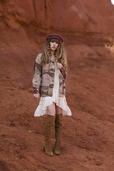 Alexe Bec - Doll Poupée Military Jacket, Free People Dress, Zara Boots - Colorado Dreaming Collection