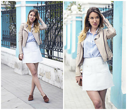 Jane D - Top Shop Leather Jacket, Asos Skirt - It's almost summer....