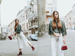 Yana Klisovska - Zara Blouse, Zara Trousers, New Look Bag - Thanksgodit'smay