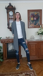 Ziri K - Bershka Coat, Skinny Jeans, Zara Shoes - Youngster