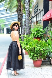 Cassey Cakes - H&M Straw Hat, Mango Earrings - Planted