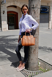 Amina Allam - Zara Outfit, Tod's Sella Bag, Salvatore Ferragamo Shoes - Sella by Tod's