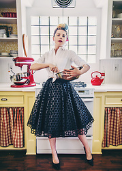 Carolyn W - J. Crew White, Black Milk Clothing Popped Bubbles, Nine West Black - Retro Kitchen