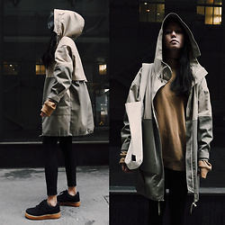Aliya A - Somemoment Two Tone Parka - TWO-TONE PARKA