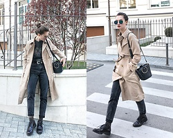 Daria Moysa - Dresslily Trench Coat, Zaful Sunglasses - Walking down the street
