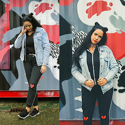 Sandra Samuel - New Look Denim Jacket, Forever 21 Joggers - Heartbroken
