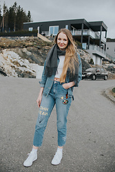Monika C. - Zara Jeans, Adidas Shoes, Romwe Jacket - Jean is in