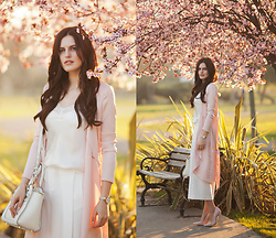 Viktoriya Sener - Vipme Trousers, Asos Duster Coat - PINK AND WHITE