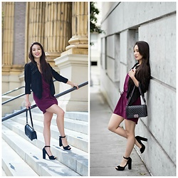 Kimberly Kong - Chaser Burgundy Dress - Burgundy Silk + Shabu Shabu for the First Time
