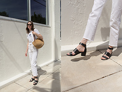Katie Bauer - Madewell Sandals, Levi's® Levis - All White