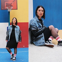 Alexandra DAP - Bershka Vest, Adidas Socks, Vans Sneakers, Zara Dress - Socks...