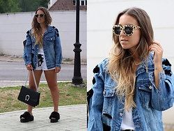 Claudia Villanueva - Pull & Bear Sunglasses, Shein Jacket, Zara T Shirt, Zara Shorts, Amarettoshop Bag, Asos Sandals - Double Lace up