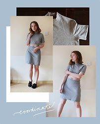 Jasmine - Zara Grey Dress, Diyed Grey Co Ord - Grey Co-ordinates