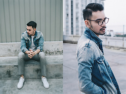 Archie Hanafi - Pull & Bear Denim Jacket, Zara Pants, Adidas Sneakers - Same old story