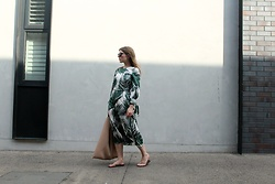 Angharad Jones - Asos Sunglasses, Zara Dress, Mm6 Maison Margiela Bag - The Palm Print Dress