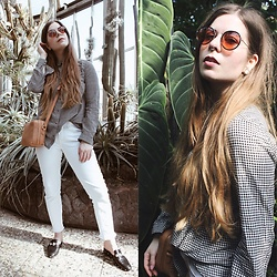Elaine Hennings - &Other Stories Bag, Esprit White Jeans, The Kooples Loafers, Esprit Blouse, Asos Sunglasses - Urban Jungle