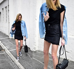 Katarina Vidd - All On My Blog - Sneakers with skirt.