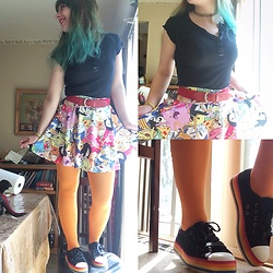 Amethyst . - Adventure Time Skirt, Rocket Dog Rainbow Flatforms, Everything Else Is Thrifted - Happy Mother's Day!