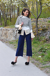Isabella Pozzi - Dresslily Striped Sweater - Dresslily Striped Sweater & Flared Details