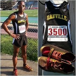 Thomas G - Asics Track Spikes, Brooks Danville, Puma Running Shorts, Usa Track & Field -  This is what it's all about