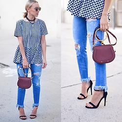 Lauren - Chloé Chloe Bag, Shein Gingham Top - Gingham and fringe