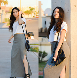 Xaydy Gambino - Forever 21 Maxi Skirt, More On - Neutral color palette