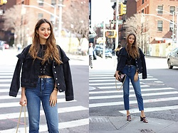 Ranim H. - Topshop Denim Jacket, Aldo Mules - Hey NYC!