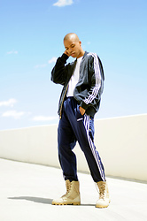 Dominic Grizzelle - Adidas Velour Track Jacket, Adidas Vintage Track Pants, Rotcho Boots - I used to dream about Love