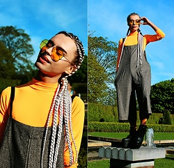 Milex X - H&M Sunglasses, We Love Colors Top, Sammydress Jupsuit, Samson Hosiery Socks - FOUND HAPPINESS