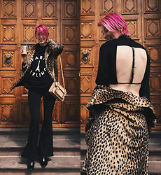BEHINDHERMASK - Mango Leopard Coat, Dr. Denim Jeans - Paris darling