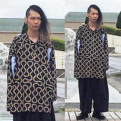 @KiD - Vivienne Westwood Worlds End Squiggle Patterned Shirts, Monochrome Wide Skirt Pants, George Cox Gerogecox × Fragile Osaka, Marc By Jacobs Key Necklace - Japanese Trash137
