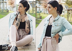 Nina Wirths - Noisy May Jacket, Asos Body, Asos Necklace, Asos Trowser, Vans Shoes - Cosy spring lover