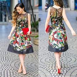 Sasa Zoe - Dress, Earrings, Heels, Bag - Wedding guest
