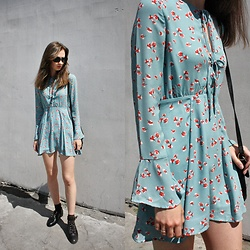 Daria Moysa - Gamiss Dress, Gamiss Flats - Baby Blue Dress