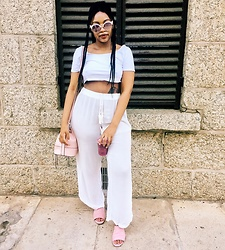 Thato Malelu - Cotton On Shoes, Cotton On Bag - Pink x White