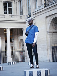 Besse Beugre - Vans Shoes, Uniqlo Pant, Eleven Paris T Shirt, Casio Watch, Vintage Shirt, Ray Ban Sunglasses - Royal Skateboard ? IG: @labroussedeparis