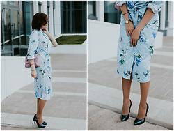 Katerina Lozovaya - Shein Dress, Sammydress Bag - From Spring with love