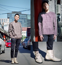 Chris Su - Cos Sweater, Mugler X Underground Boots - Back to the Past