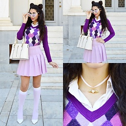 Marina Mavromati - Choies Heart Choker - Back To Sailor School!