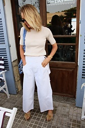Anna Borisovna - Zara Shirt, Zara Pants, Zara Shoes, H&M Bag - White & Blue Look
