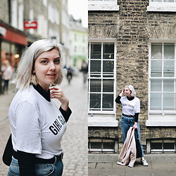 Elizabeth Claire - Boohoo Girl Gang Oversized T Shirt, Topshop Mom Jeans, Adidas Superstars - 5 Hours in Cambridge