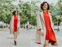 Katerina Lozovaya - Romwe Dress, Romwe Trench - Love yourself for who You are