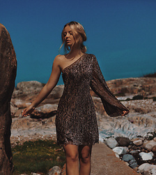 Elin Hansson - H&M, Old Golden Dress - Oasis