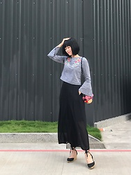Ingrid - Gu Black Culottes - 0522 Look