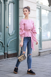 Franziska Elea - Zara Blouse, Liu Jo Jeans, Furla Bag, Puma Sneakers - THE Blouse