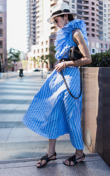 Helen @ mountainandcloud.com - Shein Dress - One Shoulder Chic