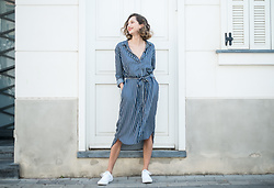 Ella Raz -  - Stripe Shirt Dress