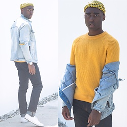 Willie Sparks - H&M Sweater, Zanerobe Denim Jacket, H&M Jeans, Beton Ciré Hat - Yellow Fever