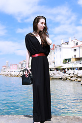 Veronika Lipar - Susnyara Black Gown - Cannes Piran and What to Wear to Film Festival